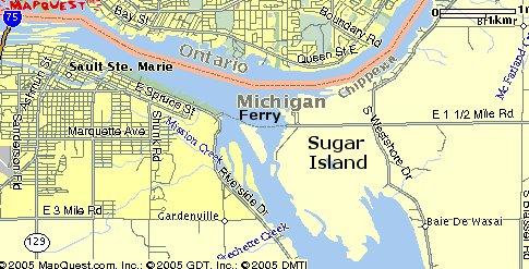 sugar island michigan map Maps